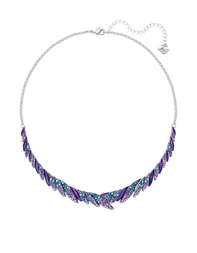 Swarovski Hearty Multicolour Crystal Chokers-SILVER-One Size