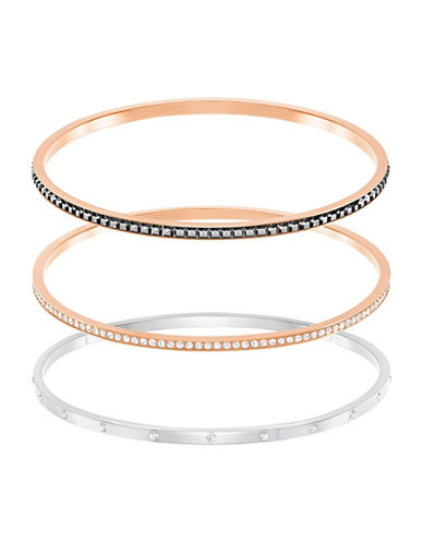 Swarovski Trio Bangle Set-ROSE GOLD-One Size