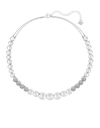 Swarovski Crystal Hote All-Around Necklace-SILVER-One Size