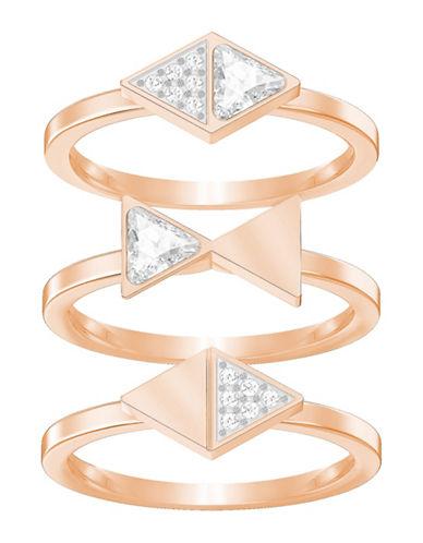 Swarovski Heroism Stacked Rings Three-Piece Set-ROSE GOLD-One Size
