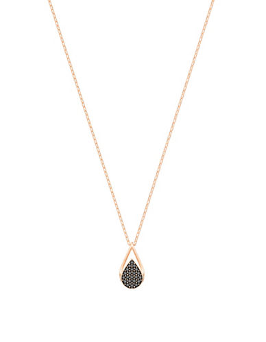 Swarovski Ginger Pave Pendant Necklace-ROSE GOLD-One Size