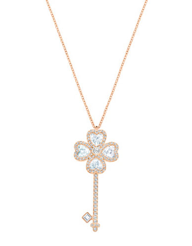 Swarovski Deary Key Pendant Necklace-ROSE GOLD-One Size