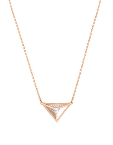 Swarovski Hillock Triangle Pendant Necklace-ROSE GOLD-One Size