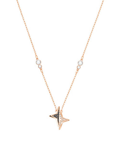 Swarovski Halve Star Crystal Necklace-ROSE GOLD-One Size