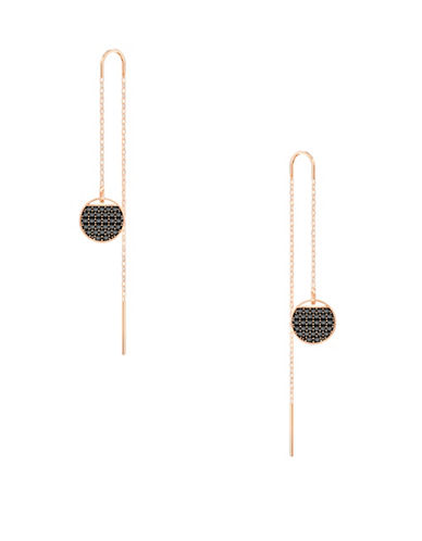 Swarovski Crystal Chain Earrings-ROSE GOLD-One Size