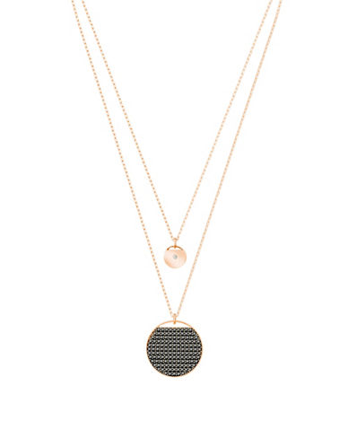 Swarovski Ginger Layered Pendant Necklace-ROSE GOLD-One Size