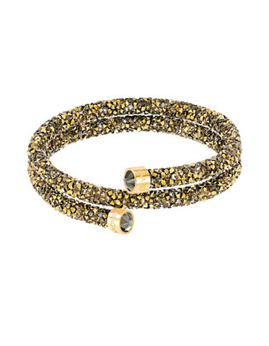 Swarovski Crystal Dust Double Bangle-GOLD-One Size