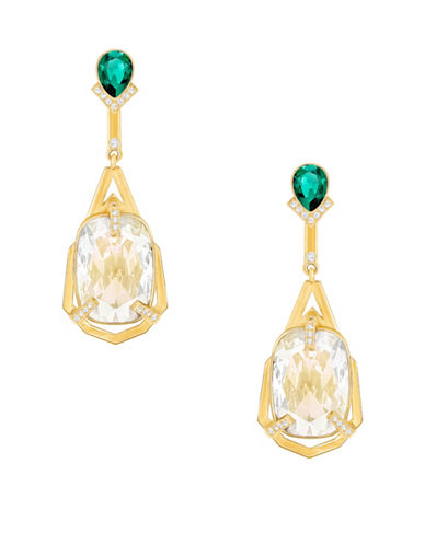 Swarovski Haven Crystal Drop Earrings-GOLD-One Size