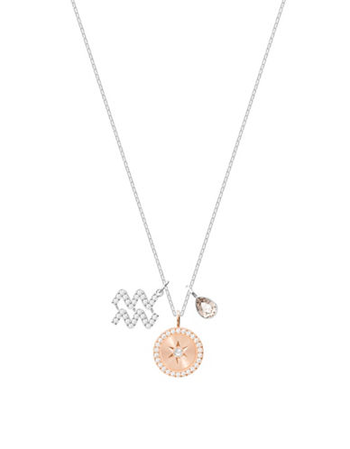 Swarovski Zodiac Pavé Crystal Aquarius Pendant Necklace-SILVER-One Size