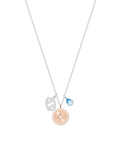 Swarovski Zodiac Pavé Crystal Cancer Pendant Necklace-SILVER-One Size