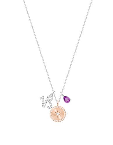 Swarovski Zodiac Pavé Crystal Capricorn Pendant Necklace-SILVER-One Size