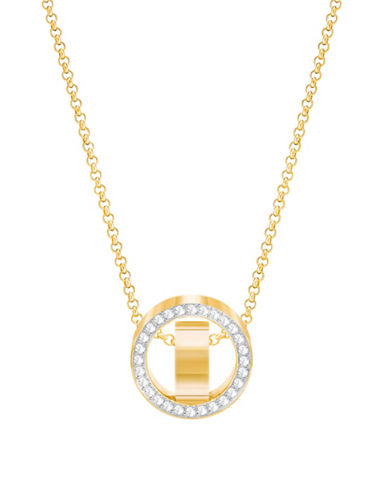 Swarovski Hollow Goldplated Pendant Necklace-GOLD-One Size