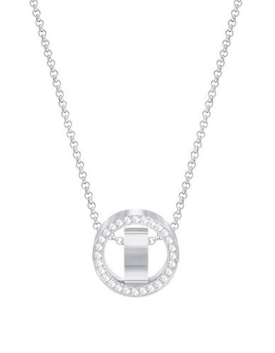 Swarovski Hollow Silvertone Pendant Necklace-SILVER-One Size