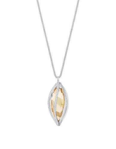 Swarovski Crystal Hailey Pendant Necklace-SILVER-One Size