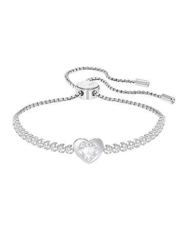 Swarovski Subtle Heart Bracelet-SILVER-One Size