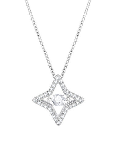 Swarovski Sparkling Dance Star Pendant Necklace-SILVER-One Size