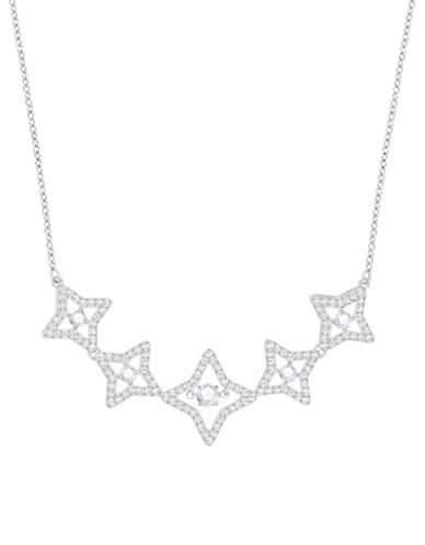 Swarovski Sparkling Dance Star Necklace-SILVER-One Size