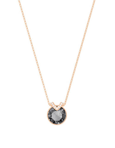 Swarovski Pave Bella V Pendant Necklace-ROSE GOLD-One Size