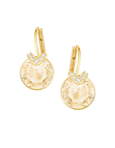 Swarovski Bella V Goldplated Earrings-GOLD-One Size
