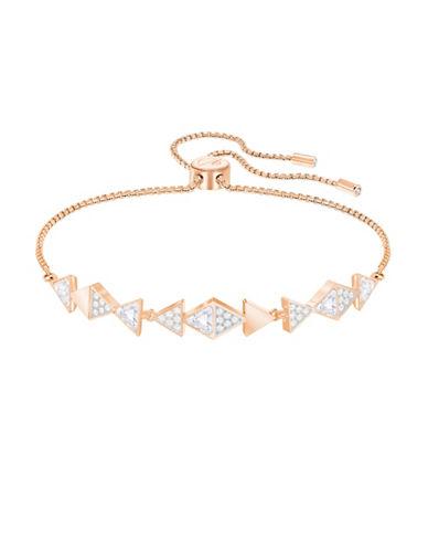 Swarovski Heroism Geometric Crystal Bracelet-ROSE GOLD-One Size