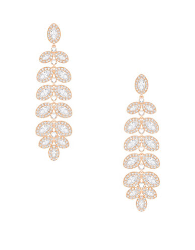 Swarovski Crystal Baron Earrings-ROSE GOLD-One Size