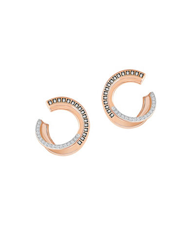 Swarovski Crystal Hero Hoop Earrings-ROSE GOLD-One Size