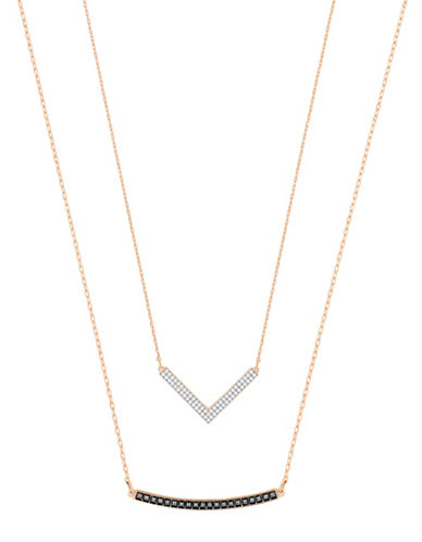 Swarovski Two-Piece Crystal Hero Versatile Necklace Set-ROSE GOLD-One Size