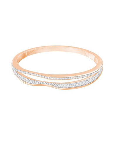 Swarovski Crystal Hilly Bangle-ROSE GOLD-One Size