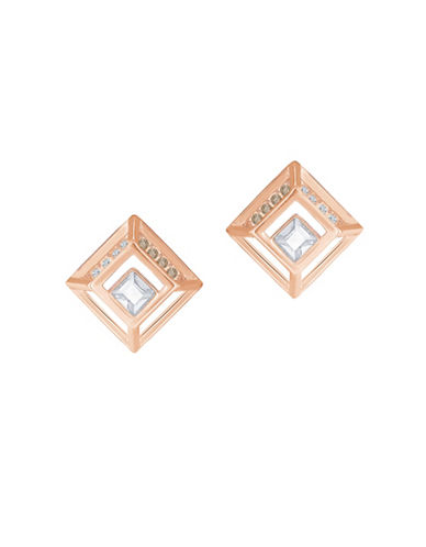 Swarovski Hillock Square Earrings-ROSE GOLD-One Size