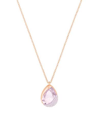 Swarovski Crystal Heap Pendant Necklace-ROSE GOLD-One Size