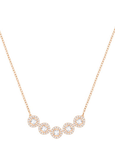 Swarovski Angelic Square Frontal Necklace-ROSE GOLD-One Size