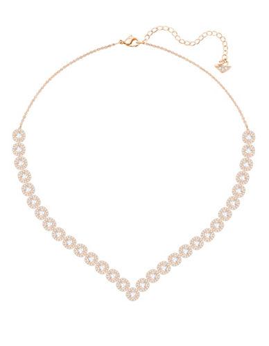 Swarovski Angelic Goldplated Square V-Necklace-ROSE GOLD-One Size