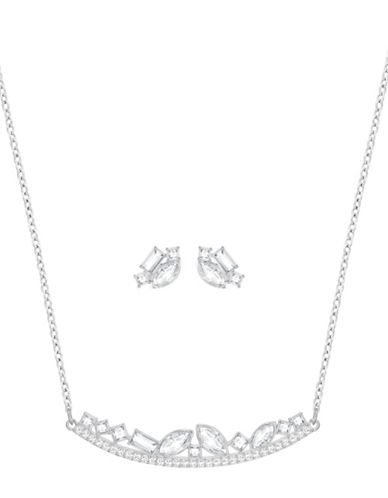 Swarovski Henrietta Necklace and Earrings Set-SILVER-One Size