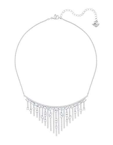 Swarovski Henrietta Pave Frontal Necklace-SILVER-One Size