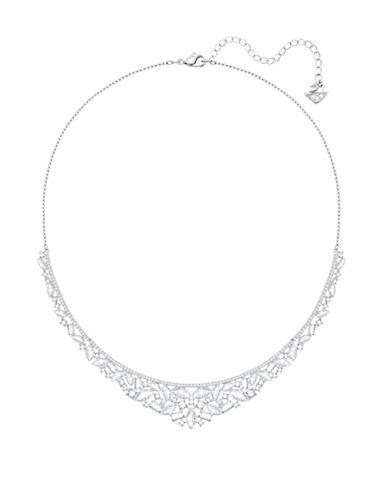 Swarovski Crystal Henrietta Necklace-SILVER-One Size