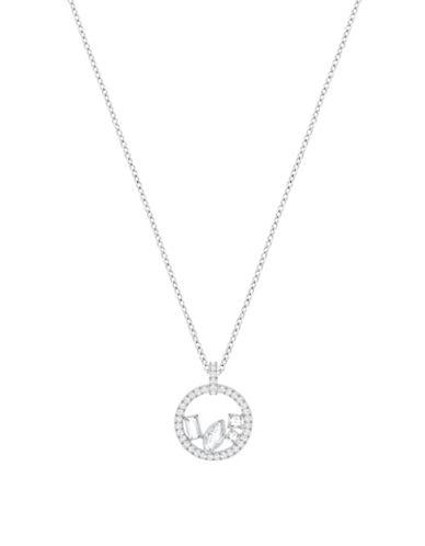 Swarovski Crystal Henrietta Pendant Necklace-SILVER-One Size