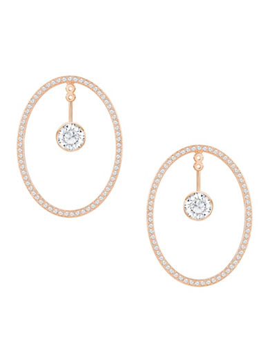 Swarovski Hoop Fever Oval Hoop Earrings-ROSE GOLD-One Size