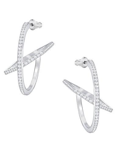Swarovski Hoop Fever Hoop Earrings-SILVER-One Size