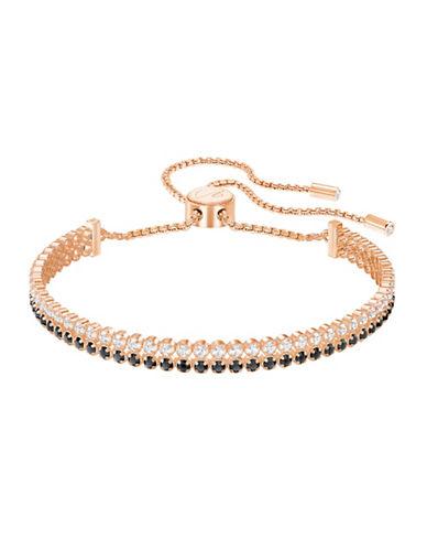 Swarovski Crystal Subtle Round Bracelet-ROSE GOLD-One Size