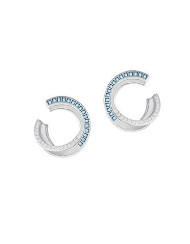 Swarovski Crystal Hero Hoop Earrings-SILVER-One Size