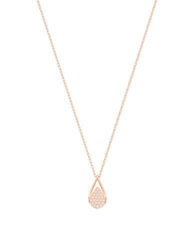 Swarovski Ginger Teardrop Pendant Necklace-ROSE GOLD-One Size