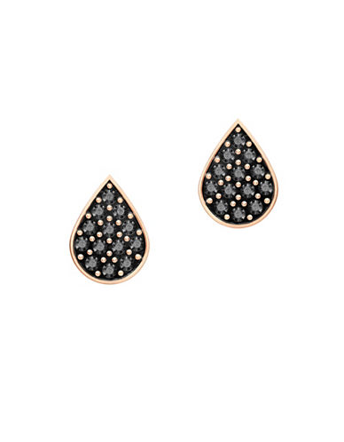 Swarovski Teardrop Stud Earrings-ROSE GOLD-One Size