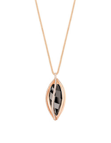 Swarovski Hailey Pave Pendant Necklace-ROSE GOLD-One Size