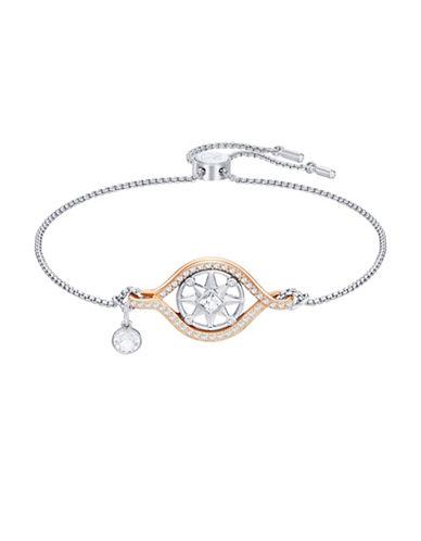 Swarovski Crystal Humanist Compass Bracelet-SILVER-One Size