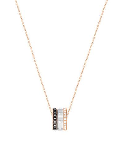 Swarovski Ring Pendant Necklace-SILVER-One Size