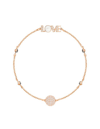 Swarovski Swarovski Remix Crystal Emotion Chain Bracelet-ROSE GOLD-One Size