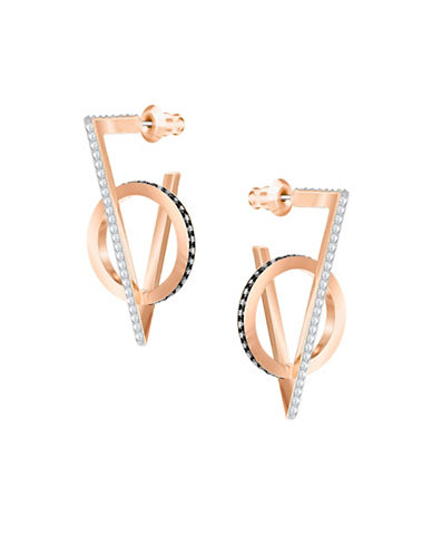 Swarovski Triangle Drop Earrings-ROSE GOLD-One Size