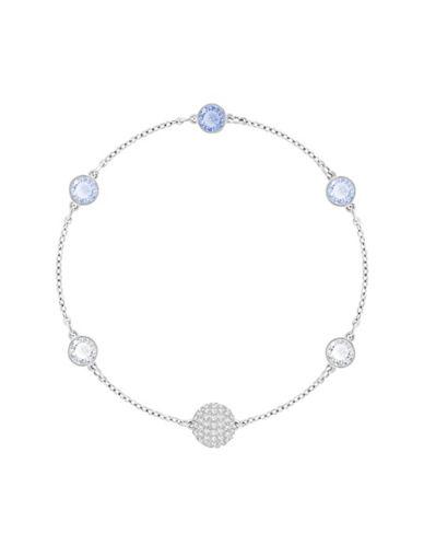 Swarovski Swarovski Remix Blue Crystal Timeless Chain Bracelet-SILVER-One Size