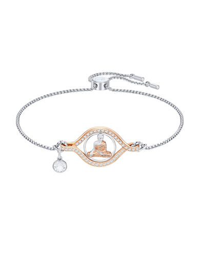 Swarovski Humanist Buddha Bracelet-SILVER-One Size