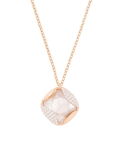 Swarovski Heap Cushion Pendant Necklace-ROSE GOLD-One Size